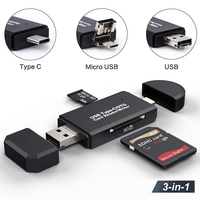 Lector de tarjetas SD USB 3,0, lector de tarjetas tipo C 3,0/2,0 TF/Micro SD, adaptador de tarjetas de memoria OTG para ordenador Android