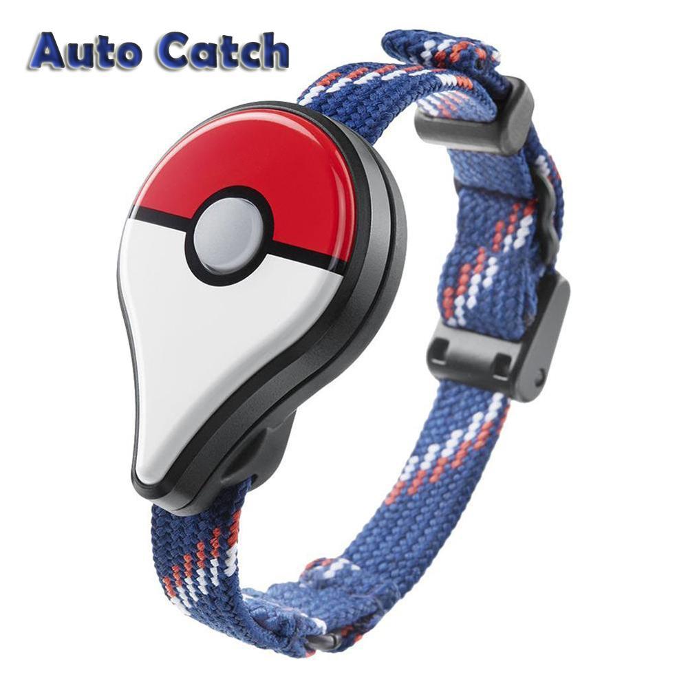 1pc Wristband Auto Catch Automatic Reminder Bracelet Fit Interactive Figure Toy For Nintend Switch Pokemon Go Plus (Red White)