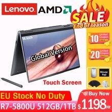 Lenovo-laptop, yoga 14c 2021, ryzen7, 5800u, 360 graus, 16gb ram, 512gb, ssd, 14 polegadas, ips, tela touch, notebook, computador, ultrabook