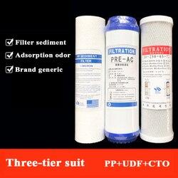 Factory direct 10 cal płaski PP bawełna uniwersalny filtr element ziarnisty węgiel aktywny filtr filtr do wody zestaw filtrów w Filtry do wody od AGD na