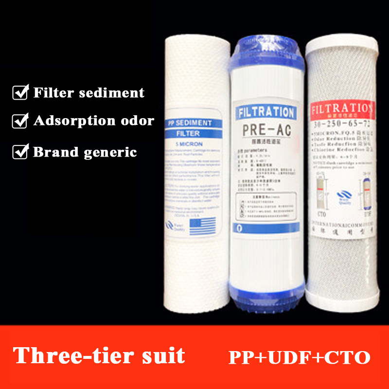 Factory Direct 10 Inch Flat PP Cotton Universal Filter Element Granular Activated Carbon Filter Water Purifier Filter Set
