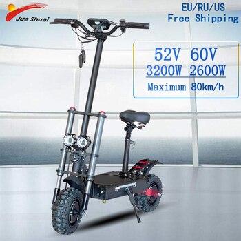 Patinete eléctrico de 60V 3200, Scooter Eléctrico plegable para adultos, Patinete de larga distancia con asiento, Scooter Eléctrico Adulto