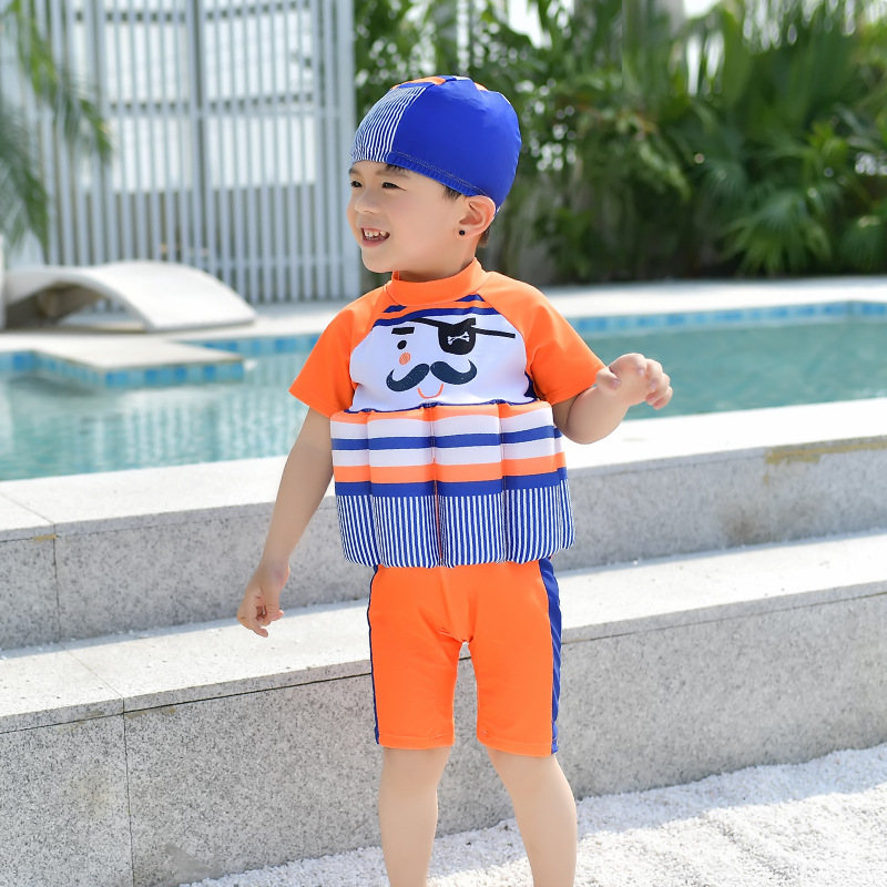 CHILDREN'S Buoyancy Swimsuit BOY'S Boy One-piece Cartoon Bubble Hot Spring Buoyancy Tour Bathing Suit Baby Infants Learn Swimmin