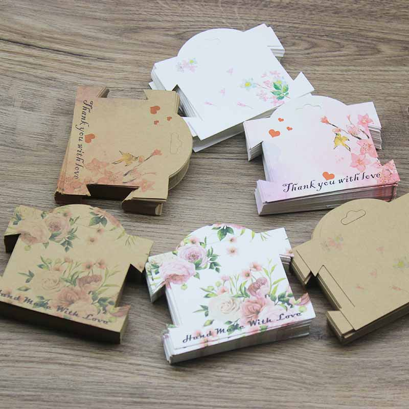 100pcs Multi-style Hair Clip Cards Hair Accessories Jewelry Display Card New Arrival Hair Clip Packaging Kraft Classic Card