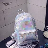 2019 модный голографический рюкзак в стиле хип-хоп, mochilas feminina, женский рюкзак с серебряным лазером, кожаный рюкзак, школьные сумки zaino