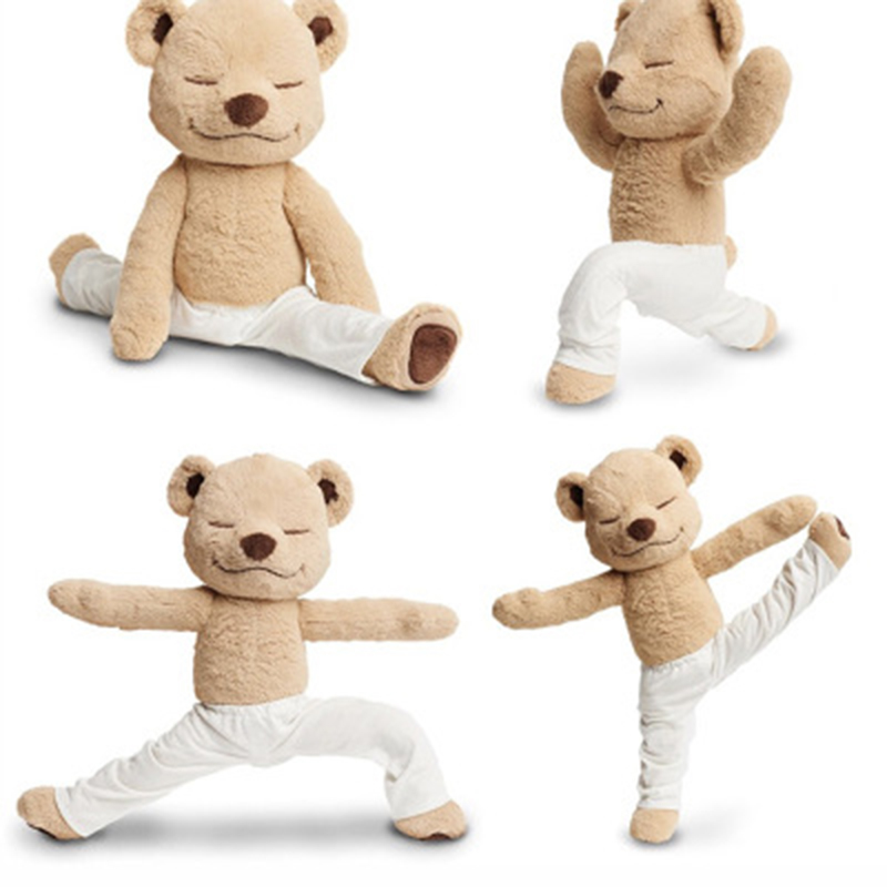 Flexible Deformable Pose Yoga Bear Soft Doll Plush Toy Doll Teddy Bear Creative Variety Bear Birthday Holiday Gift         Sp055 | Stuffed & Plush Animals