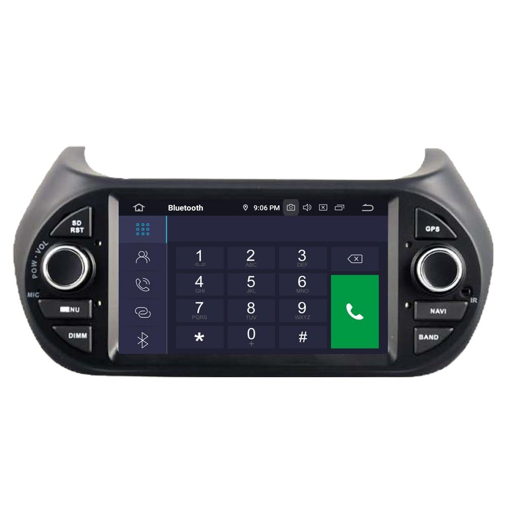 Top RoverOne Car Multimedia Player For Fiat Fiorino Qubo For Citroen Nemo For Peugeot Bipper Android 9.0 Octa Core Radio Navigation 3