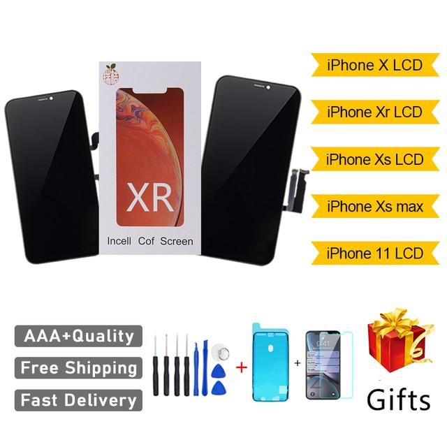 Aaa + + + Rj Incell Screen Voor Iphone X Xs Xr Xs Max 11 Pro Lcd scherm Vervanging Vergadering Digitizer Touch pantalla Perfecte Reparatie