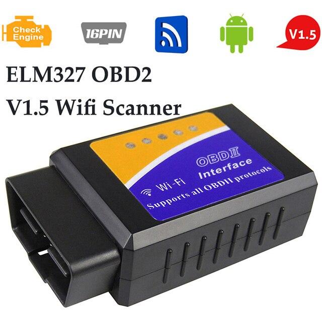 OBD2 ELM327 סורק עבור פולקסווגן ניסן סוזוקי מאזדה סובארו אנדרואיד IOS V1.5 Wifi סריקת כלי אבחון מתאם PICI8F25K80
