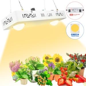 Image 1 - Dimmbare COB LED Wachsen Licht Gesamte Spektrum CREE CXB3590 100W 200W 400W 600W Wachsen Lampe für indoor Anlage Wachstum Panel Beleuchtung