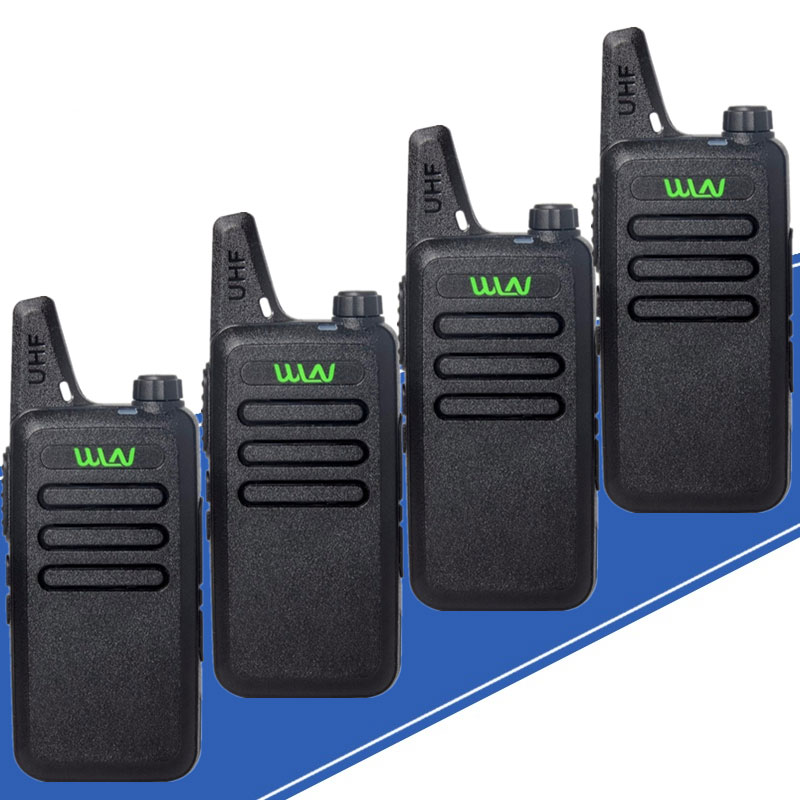 WLN KD-C1 Mini Walkie Talkie UHF Two Way Radio 5W Mini Portable 2 Way Radio UHF 400-470Mh Radio Walkie Talkie