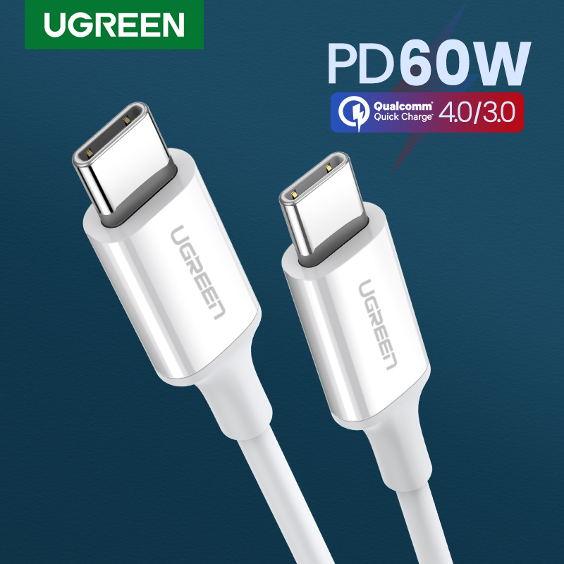 Ugreen PD 60W USB C To USB Type-C Cable QC4.0 3.0 Fast Charge Data Cable For Macbook Samsung S9 Plus USB C Cable For Huawei P30