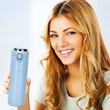 Garrafa térmica copo inteligente garrafa de água em aço inoxidável vácuo tela lcd temperatura display mantener la bebida caliente y fria