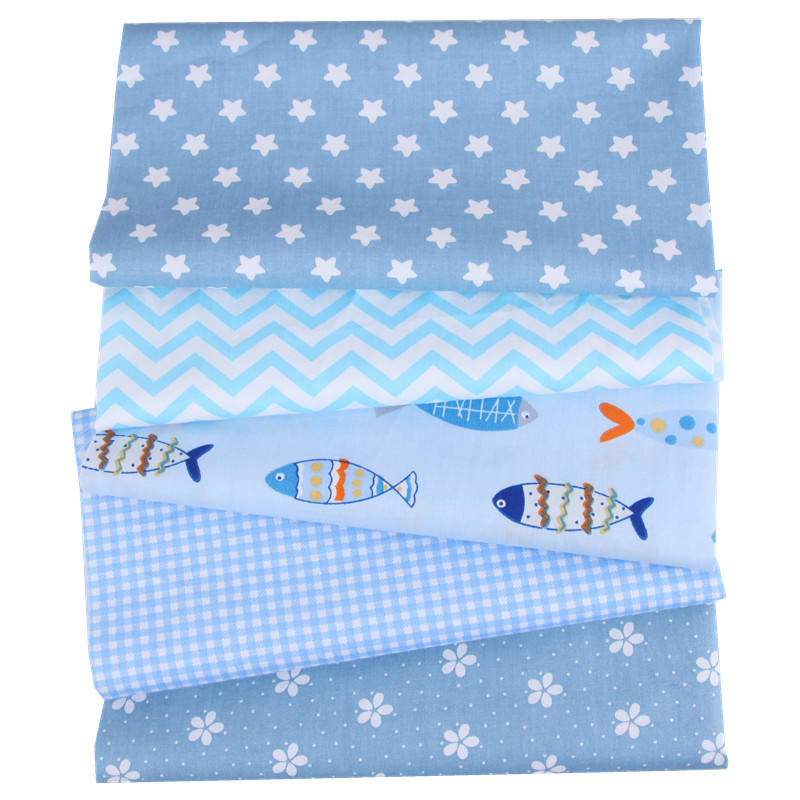 5Pcs 20*25cm Cotton Fabric Printed Cloth Sewing Quilting Fabrics For Patchwork Needlework DIY Handmade Accessories Wholesale