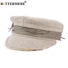 BUTTERMER Cotton Linen Newsboy Cap British Style Vintage Ladies Baker Boy Hat Art Hat for Women High Quality Brand Accessories
