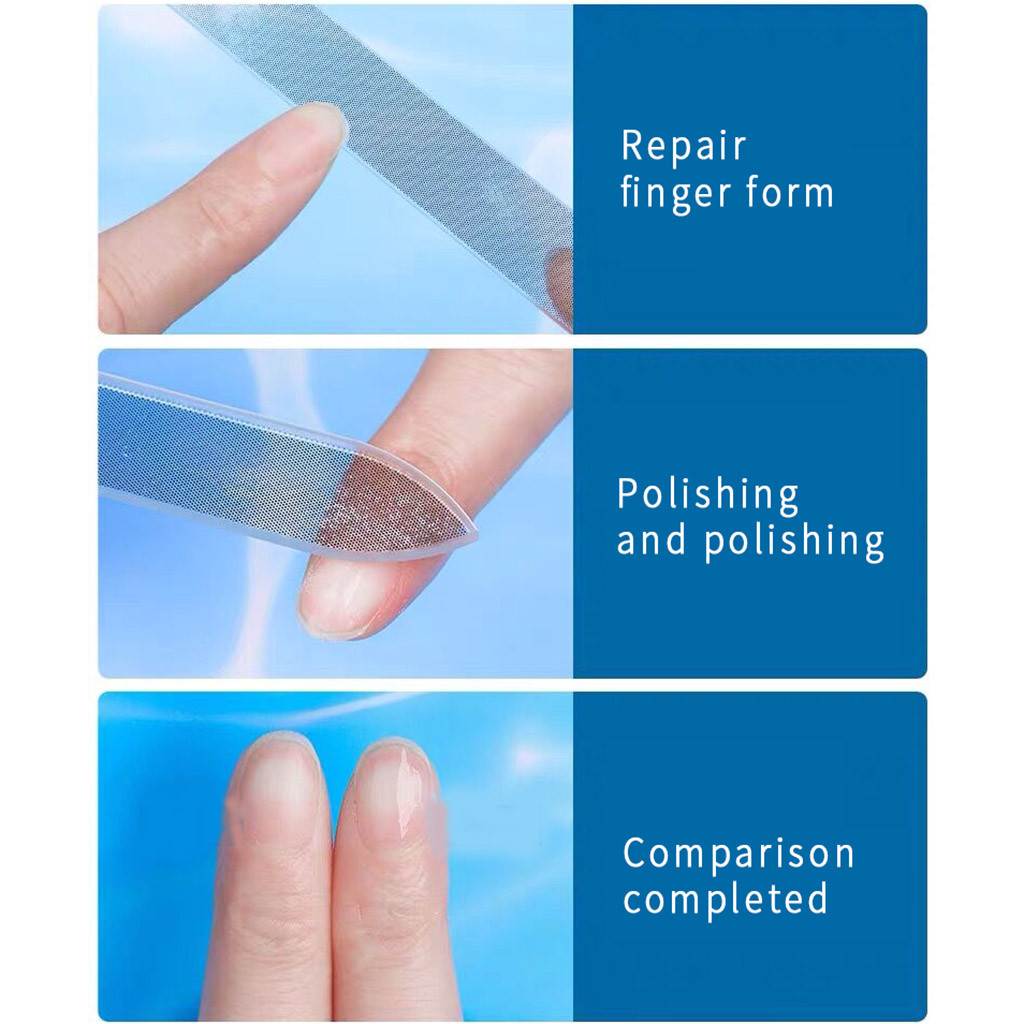 Fine Pointed Nail File Manicure Compact And Convenient Double-sided Plastic Nail Tool Polishing Set