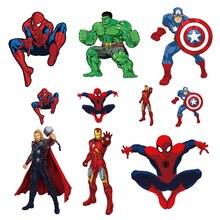 Супергерой, железные Пластыри для одежды, термопереводные виниловые наклейки для одежды Diy, футболка, аппликация, Человек-паук, термопресс E