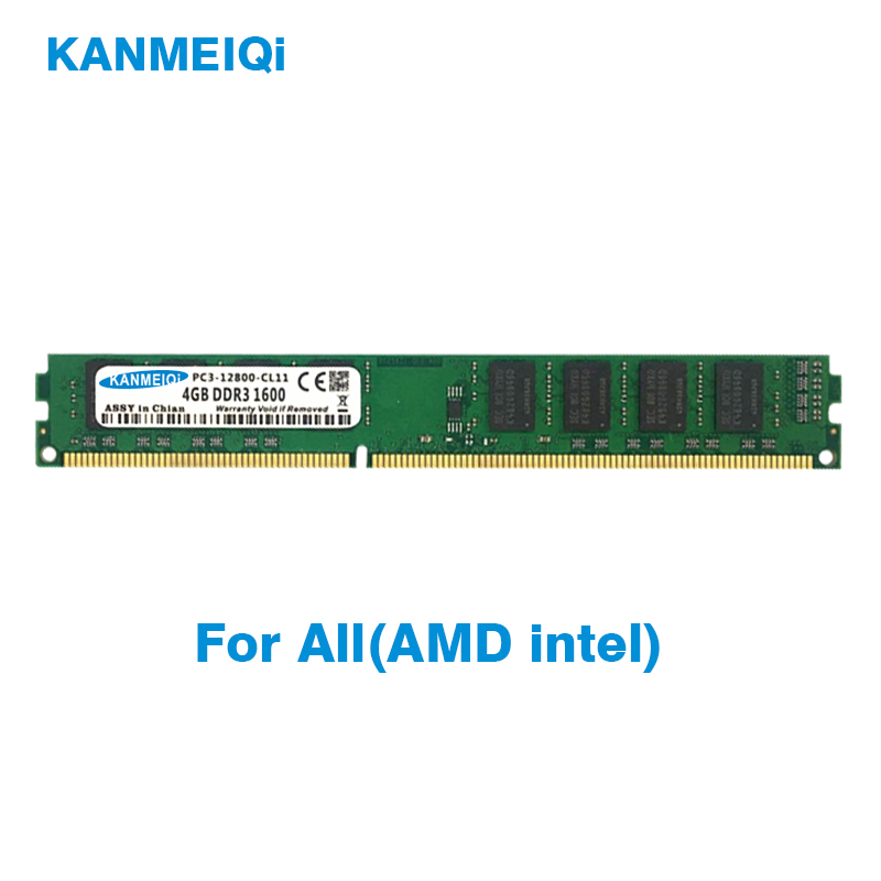 KANMEIQi Ram DDR3 8GB 1600mhz 4GB 1866MHz Memory With Heat Sink 1333MHz 240pin 1.5v Desktop Dimm