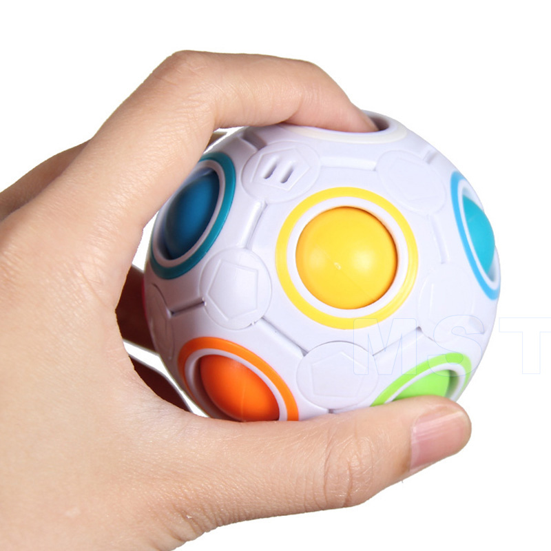 Magic-Cubes Rainbow-Ball Reliever-Toys Novel Educational-Stress Spheric for Children img4