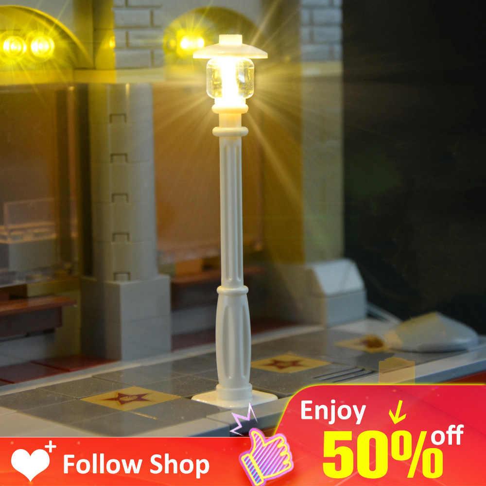 Lego LED Licht Nachrichten Lego City Straße Licht Neuheit Für Die Haus Lego Baustein Lego Creator Haus DIY Spielzeug neuheit Kind Geschenk