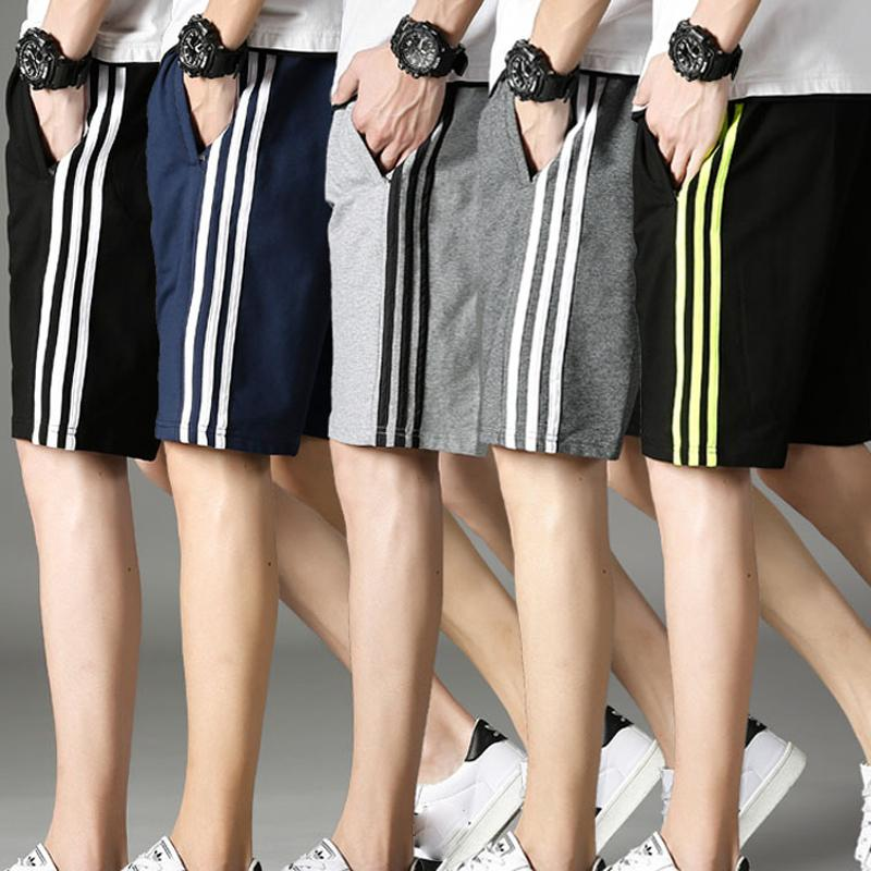 2020 New Summer Casual Shorts Men Striped Men's Sportswear Short Sweatpants Jogger Breathable Trousers Man Casual Pants