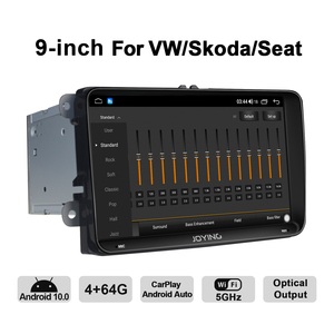 Image 5 - JOYING Double din 9 inch  head unit Octa Core 4GB RAM Car Radio player with 4G&DSP support Carplay For VW passat b6 Rapid Golf