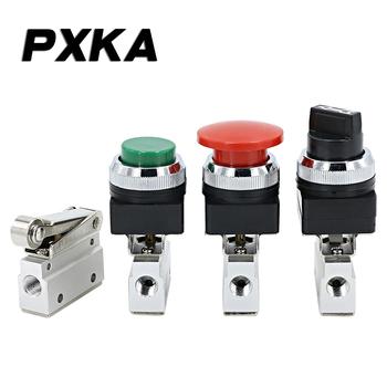 Darmowa wysyłka MOV-02 zawór pneumatyczny zawór ręczny przełącznik zaworu powietrza zawór pneumatyczny przycisk zawór typu rolki zawór mechaniczny tanie i dobre opinie PXKA Zawory