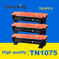 Toney King 3 PCS TN1075 Toner Cartridge Compatible for Brother HL 1110 1112 DCP 1510 1512R MFC 1810 1815 Printer