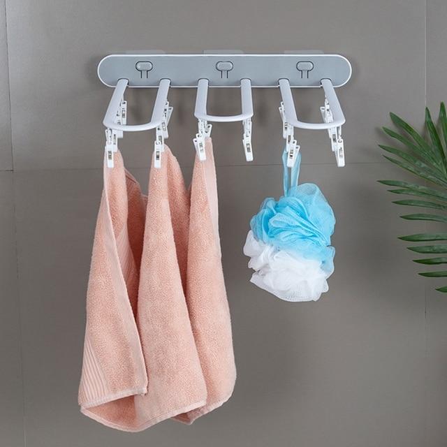 Портативная многофункциональная вешалка для брюк одежды сушилка