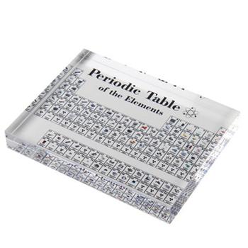 1pc akrylowe elementy chemiczne biurko wyświetlacz okresowy wystrój stołu elementy oprawione dla studentów nauczyciele prezent rzemiosło artystyczne tanie i dobre opinie Z tworzywa sztucznego