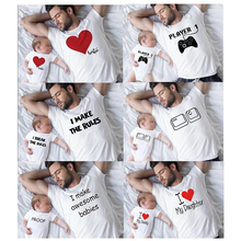 Shirt Gift Biggie Funny Family Son for Him Dad And Smalls Daughter Matching Tops