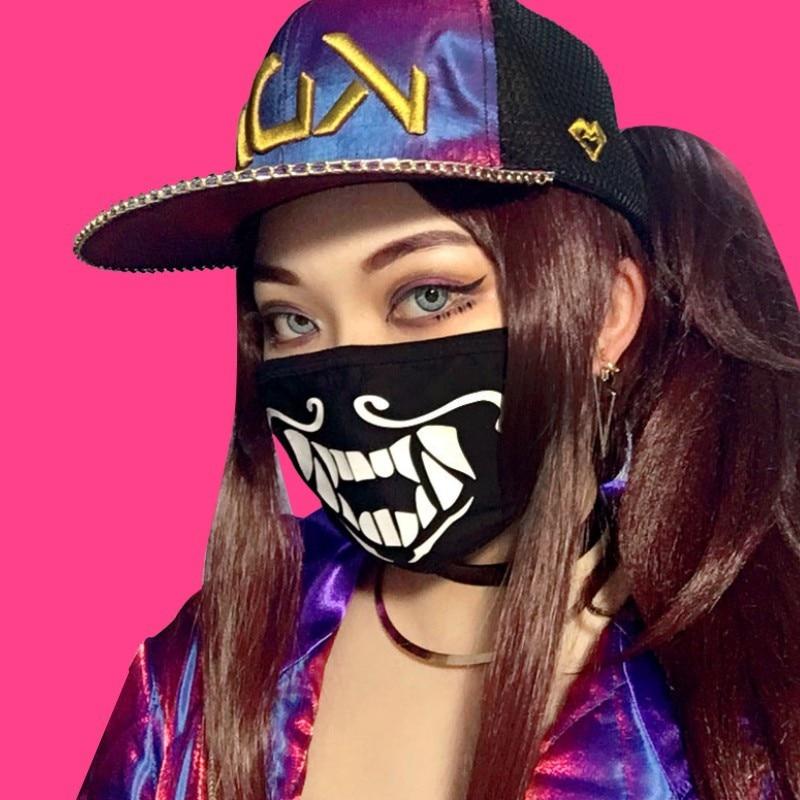 1PCS Cotton Dustproof Warm Mask K/DA KDA Akali Mask Cosplay Akali Assassin Cosplay S8 Face Masks