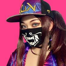 1 pièces coton anti-poussière masque chaud K/DA KDA Akali masque Cosplay Akali Assassin Cosplay S8 masques(China)