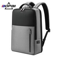 BOPAI Reise Rucksack Wasserdicht 15,6 Inch Computer USB Lade Männer Multifunktions Stilvolle Schule Tasche für Teenager