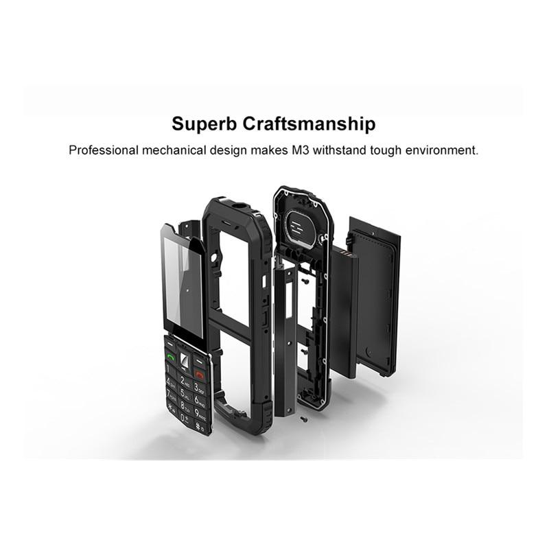 Image 4 - AGM M3 Rugged Dual SIM Outdoor 2.4 Phone IP68 Waterproof  Shockproof Dustproof Torch 1970mAh Flashlight Cell PhoneCellphones   -