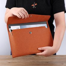 Waterproof Leather A4 Business Briefcase File Folder Document Paper Organizer Storage Bag School Office Stationery