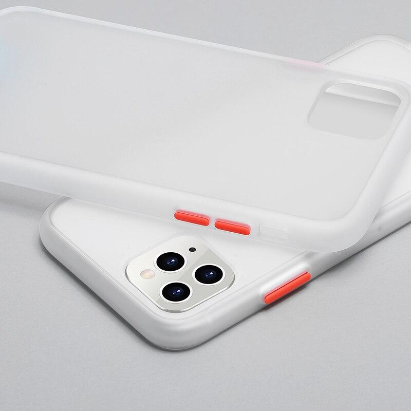 N1986N чехол для телефона для iPhone 11 Pro X XR XS Max 7 8 Plus роскошный контрастный цвет рамка Матовый Жесткий PC защитный чехол для iPhone 11 чехол - Цвет: Translucent