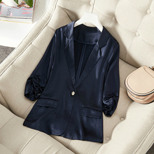 High Quality Autumn Work Office Blazer Coat Women Suit Casual White Female Modis Solid for Ladies Outwears