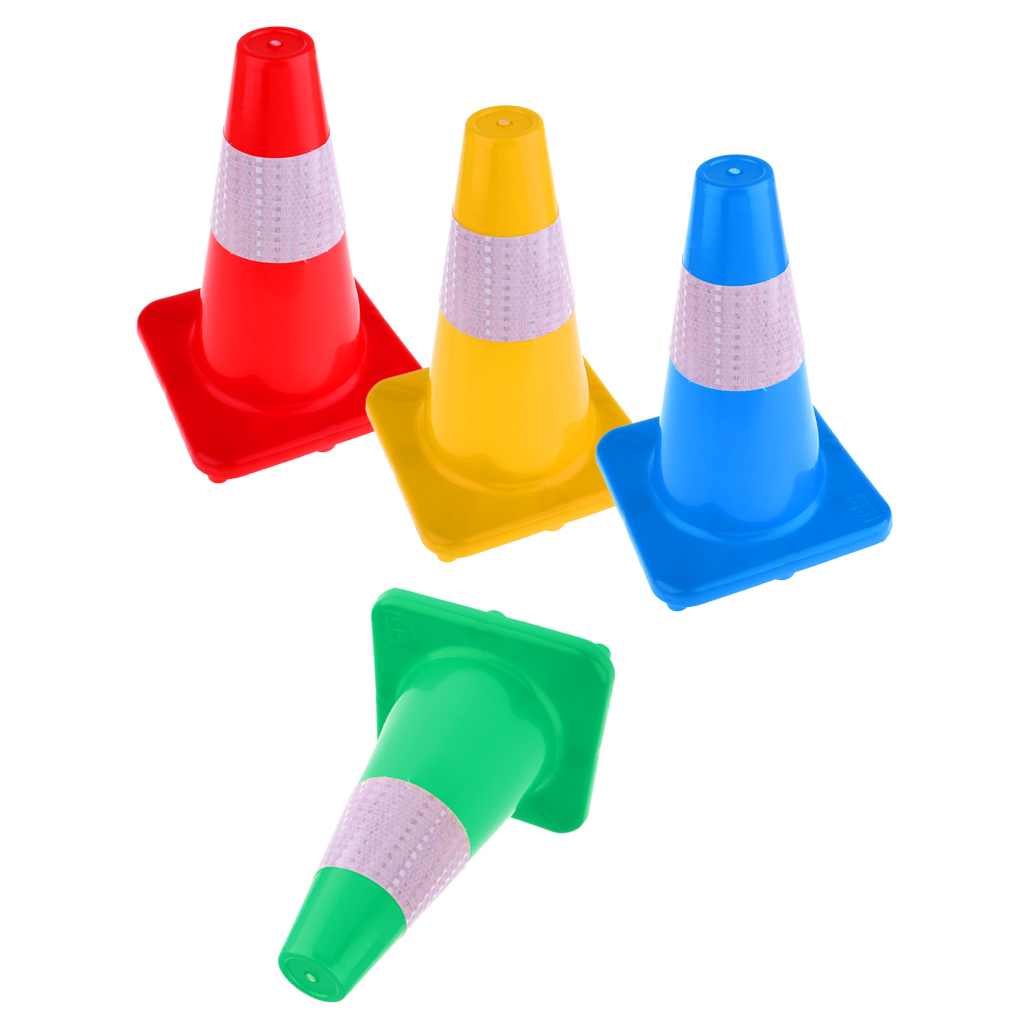 Plastic Reflective Safety Cone Multiuse Road Marker Traffic Cone For Roller Inline Skating Slalom Soccer Training Aid