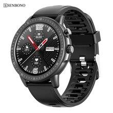 Смарт часы SENBONO S02 с пульсометром, монитором артериального давления, кислородом, погодой, многофункциональные смарт часы, спортивные фитнес трекер, Часы