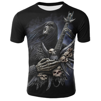 Summer New Funny Skull 3D T Shirt Summer Hipster Short Sleeve Tee Tops Men/Women Print T-Shirts Casual Homme Short Sleeve Tops 4