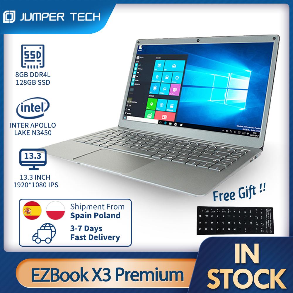 Laptops Windows 10 Jumper EZbook X3 Premium 13.3 inch 1080P IPS Display Apollo Lake Intel N3450 8GB 128GB SSD notebooks