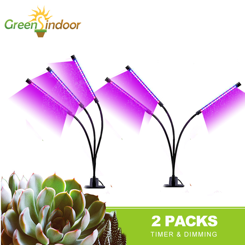 Full Spectrum LED Grow Light 9W 18W 27W Timer Phyto Lamp For Plants USB Fitolamp For Succulents Seedlings Flowers Grow Tent Box
