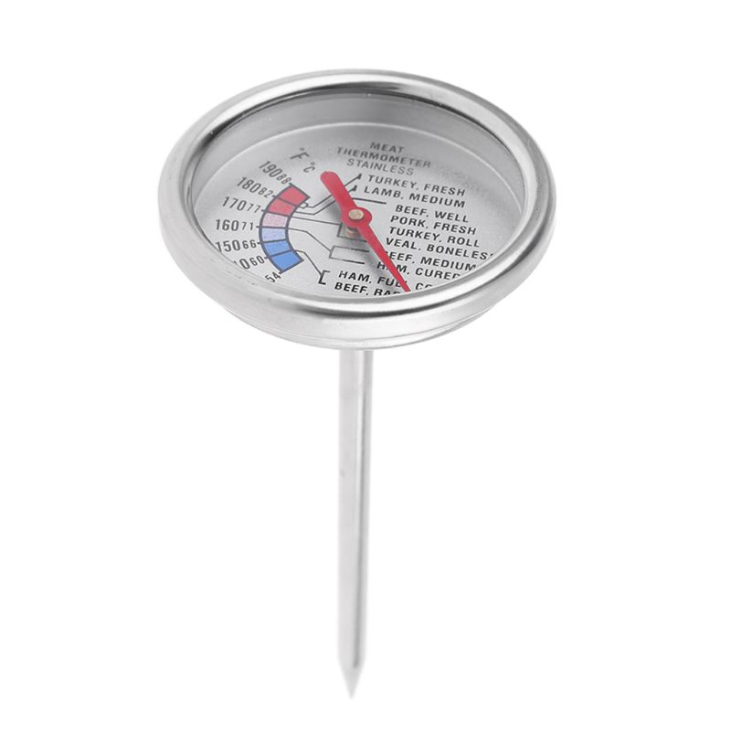 Stainless Food Analog Meat Thermometer Kitchen Cooking Oven BBQ Beef Pork Turkey Steak Temperature Probe C/F 6