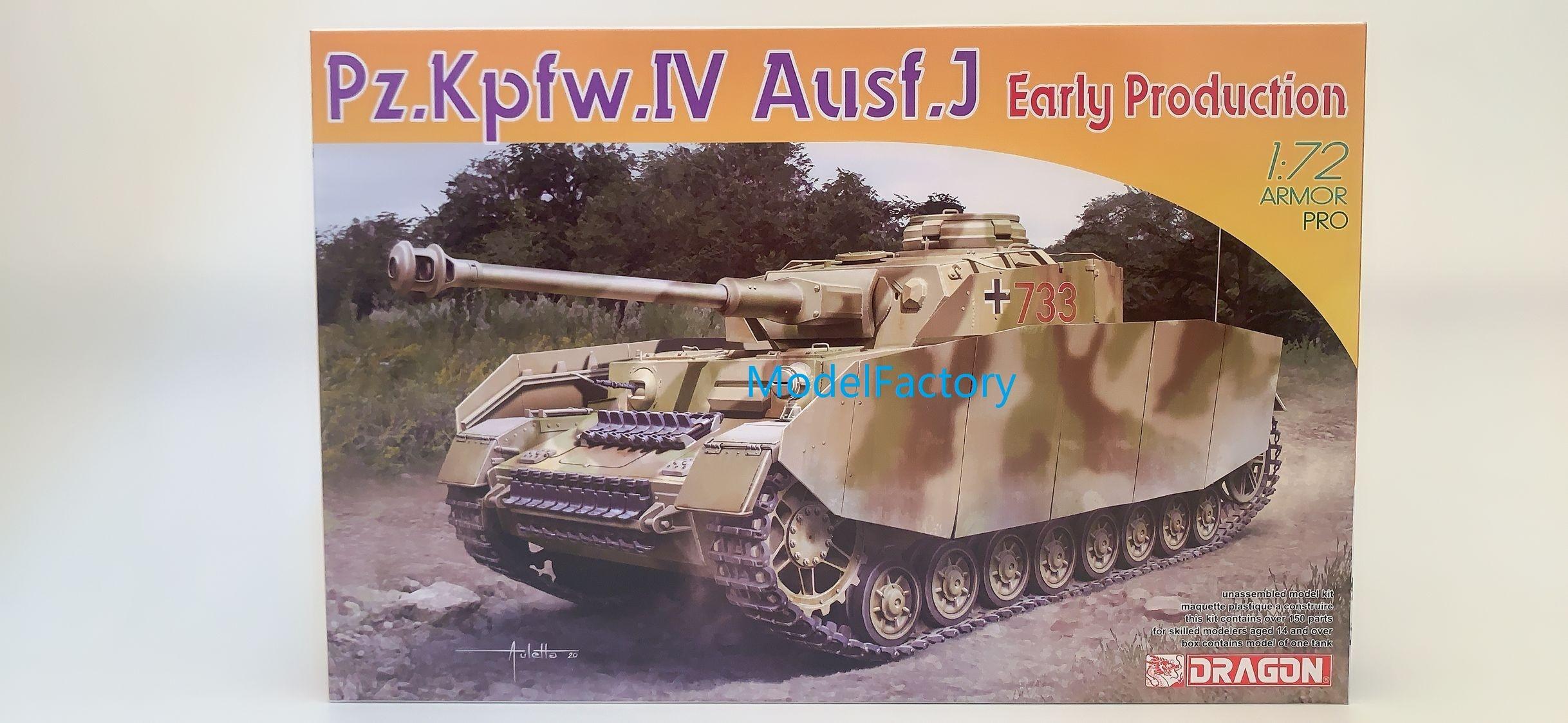 DRAGON 7409 1/72 Pz.Kpfw.IV Ausf.J Раннее Производство