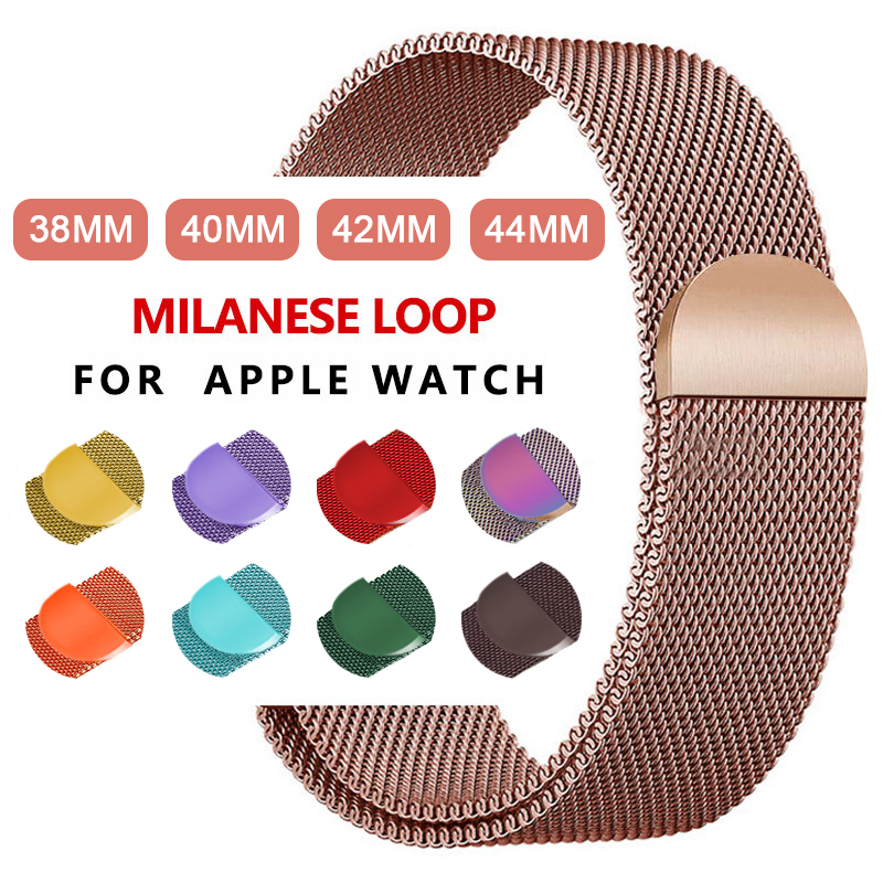 Milanese Loop Bracelet Stainle For Apple Watch Series 5 40mm 44mm Wristband Iwatch 1/2/3/4 42mm 38mm Stainless Steel Wristband