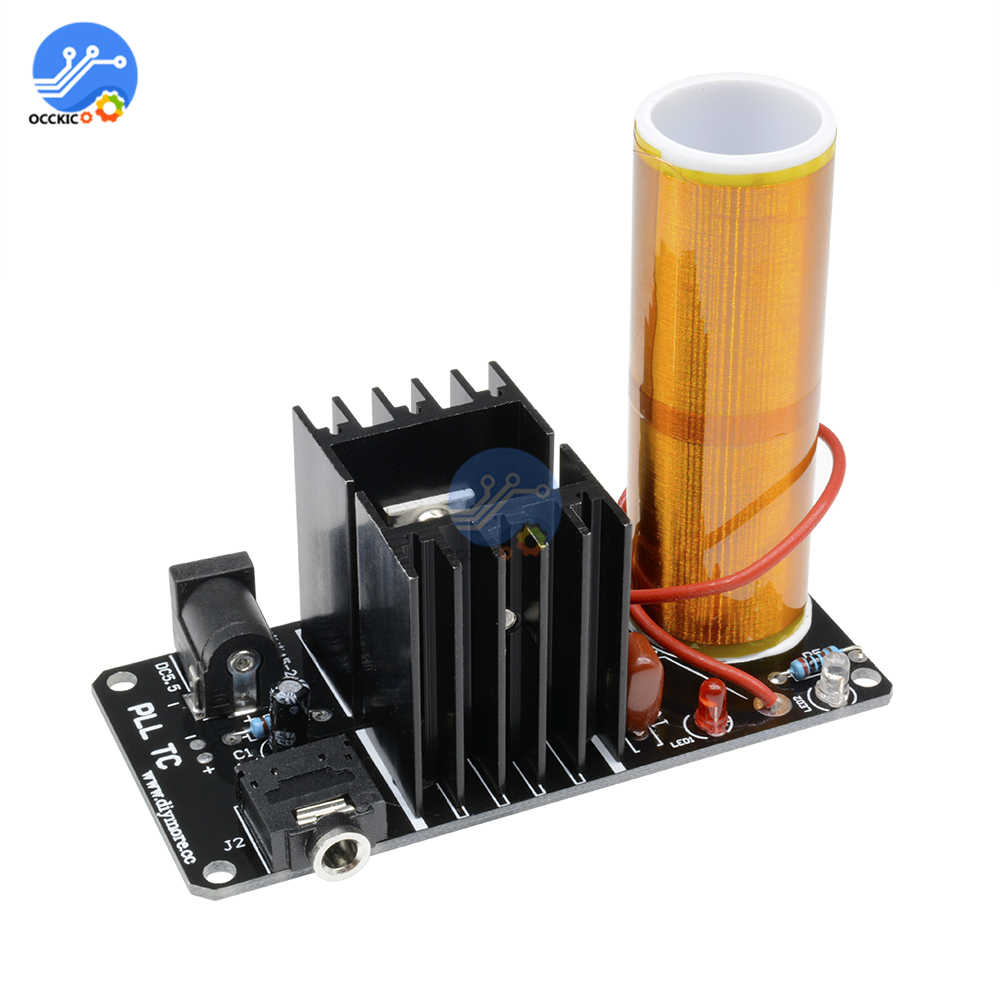 Assembled Mini Tesla Coil Plasma Amplifier Speaker Electronic Field Music Toy 15W DC 15-24V Finished