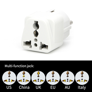 "Image 4 - אוניברסלי בריטניה ארה""ב AU לאיחוד האירופי AC נסיעות כוח מתאמי בצרפת גרמניה יוון האיחוד האירופי Plug ממיר חשמל מטען"