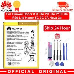 Hua Wei Asli Baterai Ponsel HB366481ECW untuk Huawei Honor 8 Honor 8 Lite Honor 5C Naik P9 Huawei P10 P9 Lite G9 3000 MAh