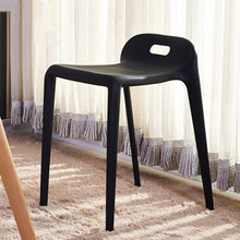 Nordic Simple Plastic Stool Dining Chairs for Dining Rooms Modern Bedroom Furniture Living Room Bedroom Bar Plastic Dining Stool